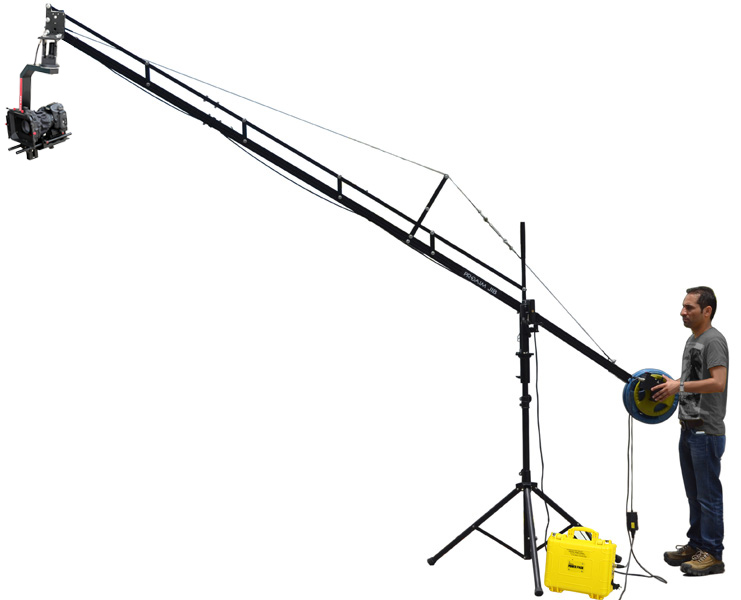 Jib Pole Crane : Proaim ft camera crane with jib stand and sr pan tilt head cinp js srpp