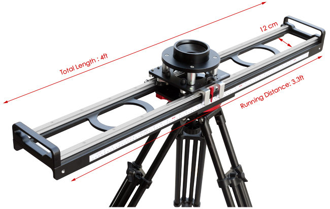 Proaim Flyking Precision Camera Slider (Bowl Mount 100mm and 150mm ...