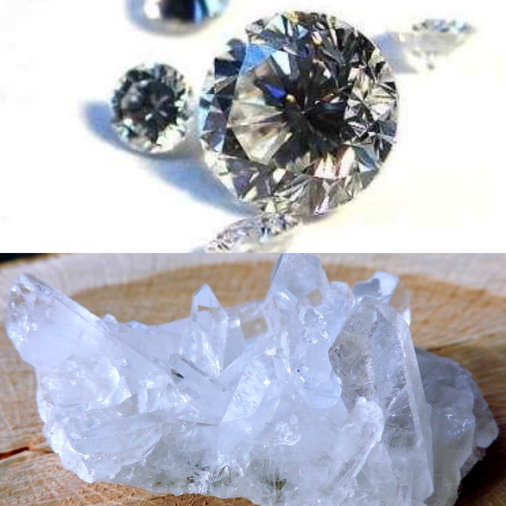 Diamond & Clear Quartz - April Birthstones