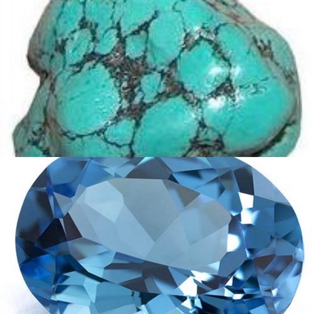 Turquoise & Blue Topaz - December Birthstones