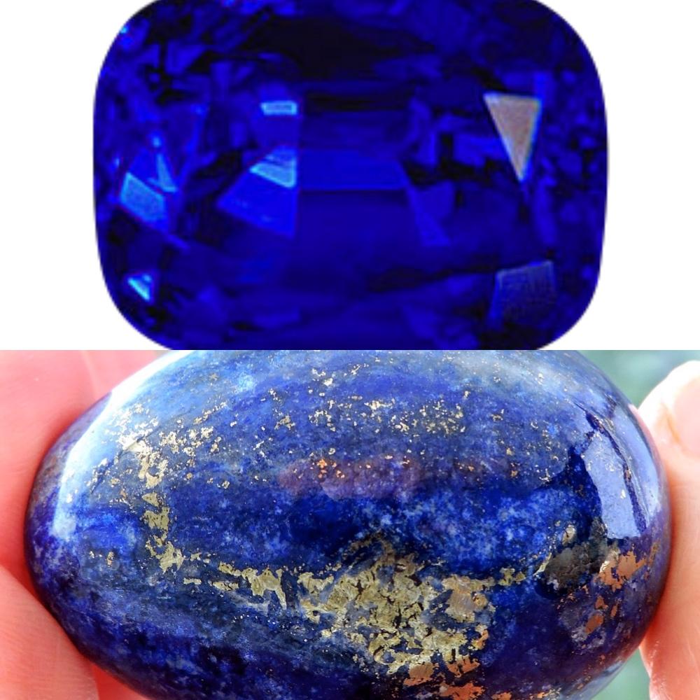 Sapphire & Lapis Lazuli - September Birthstones