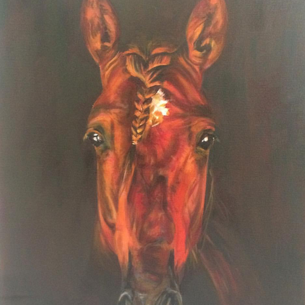 Chestnut Andalusian Painting