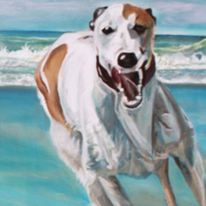 Detail of 'Beach Fun' Oil on Canvas