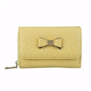 Chic Yellow Lady's Bowknot Purse