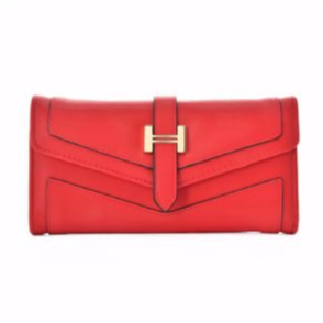 Pretty Red Solid Hasp Purse