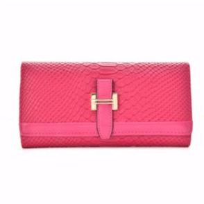 Stylish Solid Hasp Ladies Purse (Fushia)